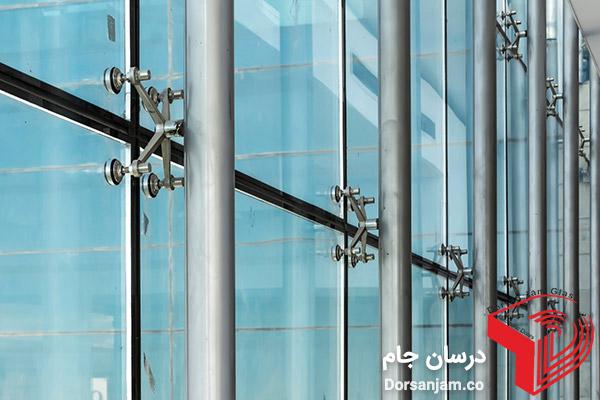 نمای اسپایدر شیشه ای | شیشه اسپایدر