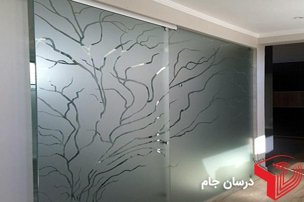 سندبلاست شیشه طرح درخت