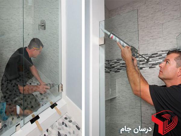 نصب شیشه سکوریت حمام